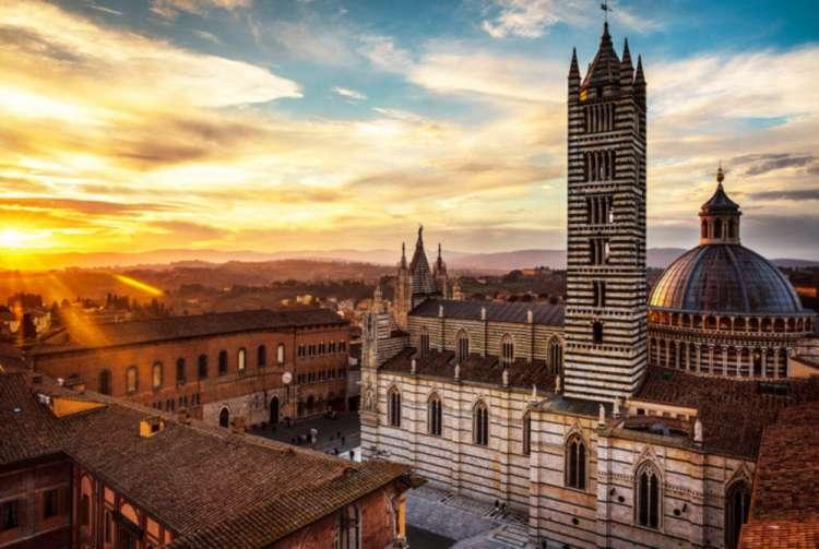 Vista del Duomo di Siena
