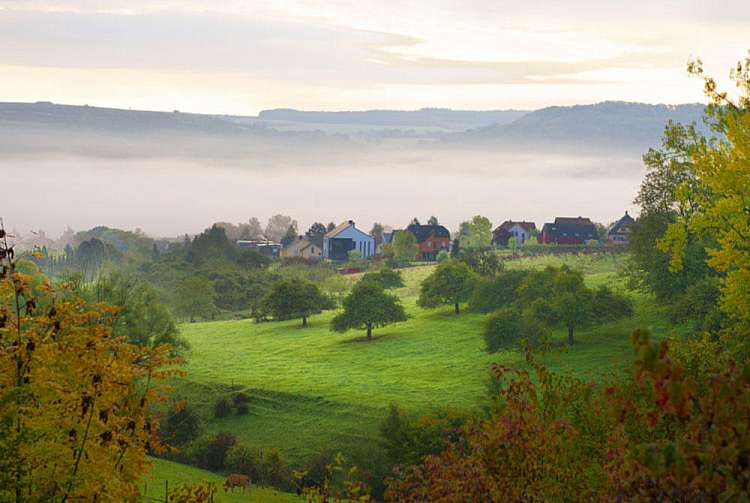 Panorama della campagna lussemburghese