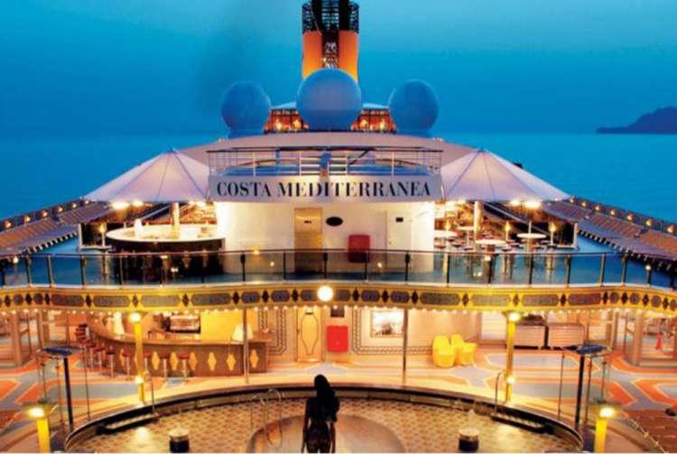 A bordo della Costa Mediterranea