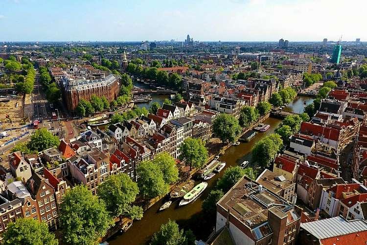 Amsterdam dall'alto