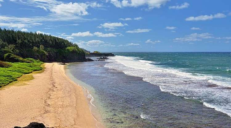 Una spiaggia a Gris Gris