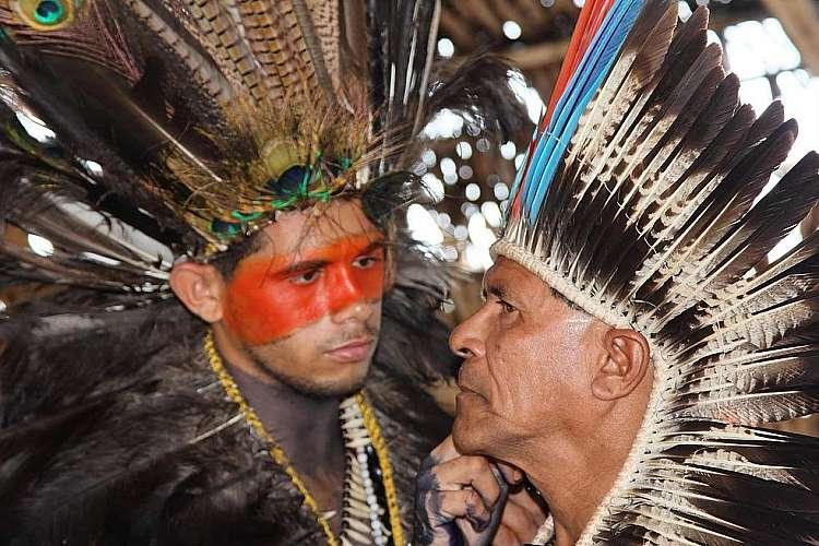 Indigeni nel villaggio Potiguara