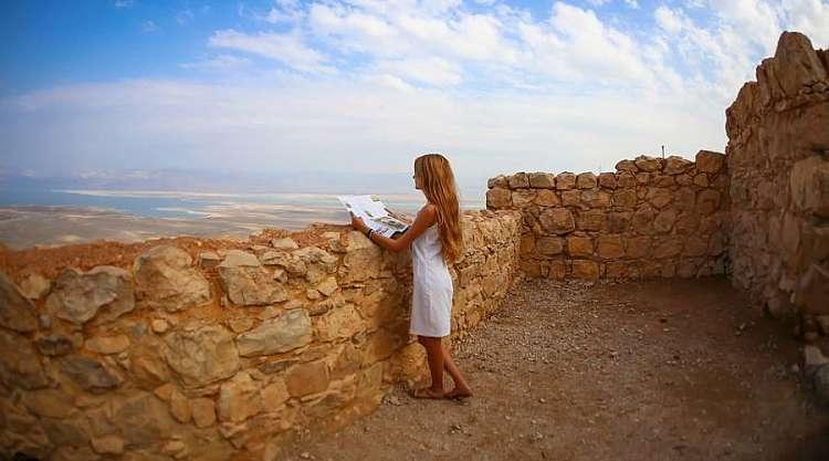 La vista dalla Fortezza di Masada