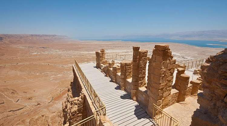 Il Mar Morto dall'alto di Masada