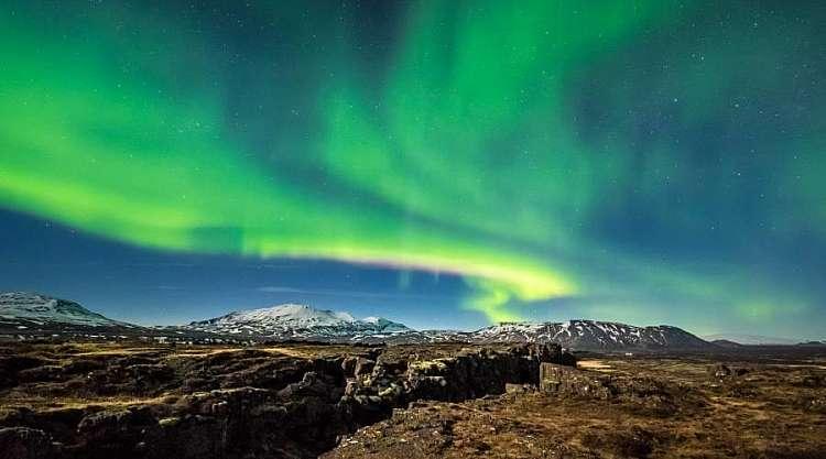 Aurora Boreale sul Parco Nazionale del Thingvellir