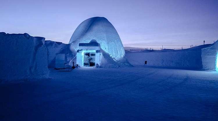 Hotel di ghiaccio a Kiruna, Lapponia Svedese