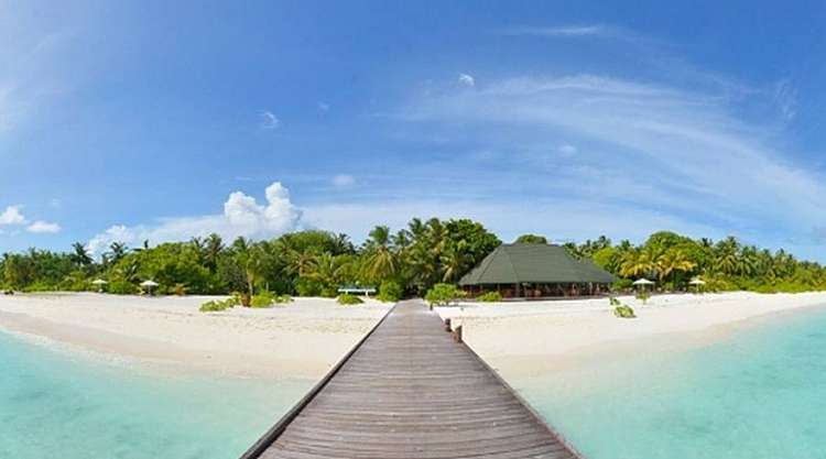 Spiagge borotalco all' Holiday Island Resort 4 stelle Atollo di Ari
