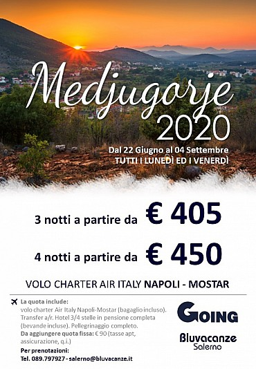 Medjugorje da Napoli con Air Italy a partire dal 22 giugno