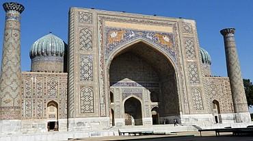 UZBEKISTAN - Samarcanda la calligrafia araba sulla Via della Seta