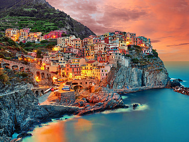 Tra le 5 Terre e le montagne, tour della Toscana e dell'Umbria solo colazione