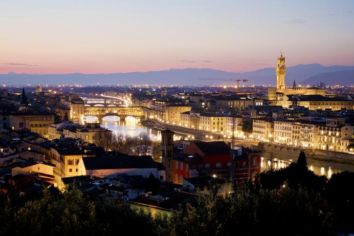 Piazzale Michelangelo di notte
